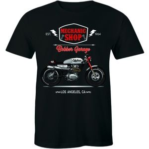 Mechanic Shop Bobber Garage Est.1964 USA T-shirt